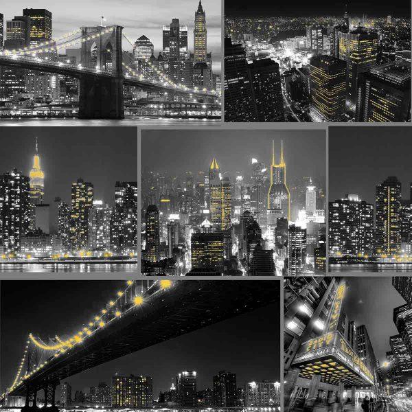 101696 CITY AT NIGHT BLACK