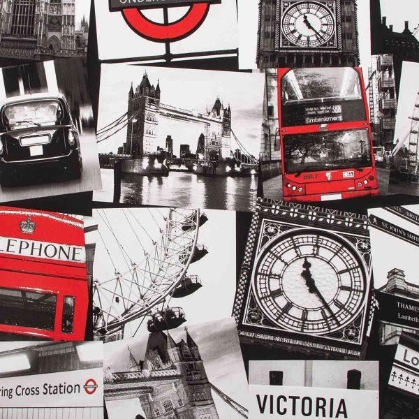 50-841 LONDON MONTAGE BLACK RED