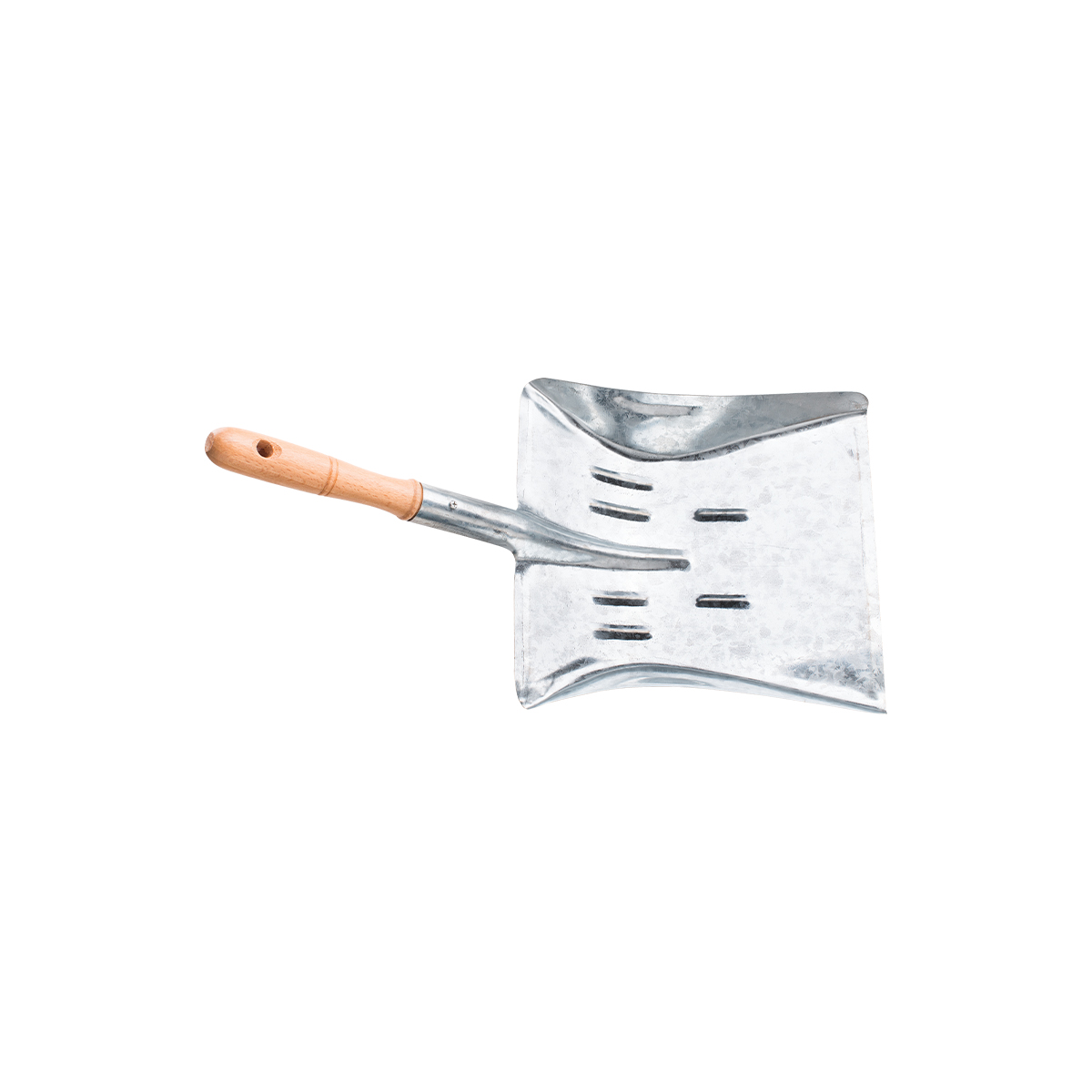 METAL DUSTPAN WITH WOODEN HANDLE