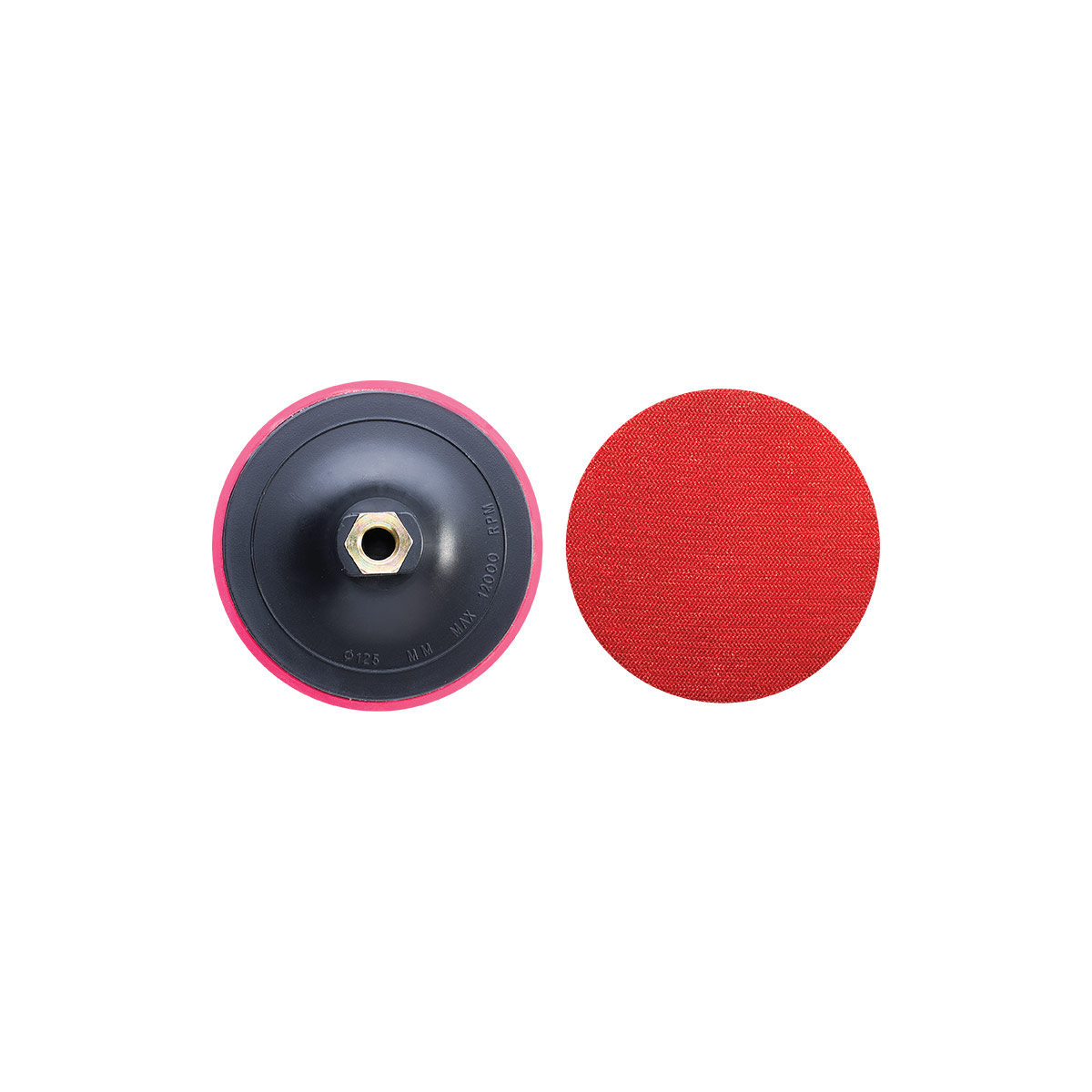 125MM SOFT DISC PAD WITH VELCRO